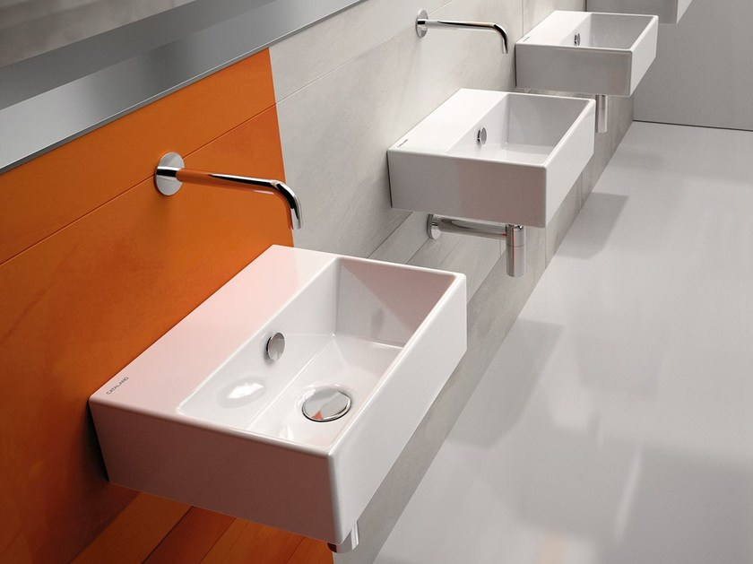 Rectangular wall-mounted ceramic washbasin PREMIUM 40 | Washbasin - CERAMICA CATALANO