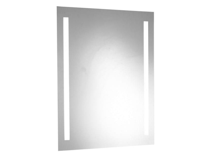 specchio a parete con illuminazione integrata per bagno collezione bagnosicuro standard by. Black Bedroom Furniture Sets. Home Design Ideas