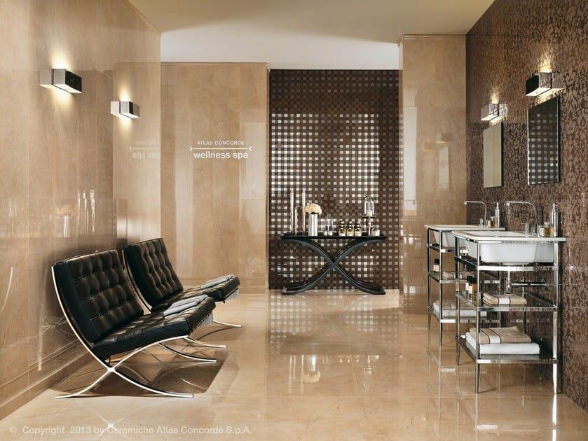 Rivestimento in ceramica a pasta bianca effetto marmo marvel wall rivestimento in ceramica a - Atlas concorde bagno ...