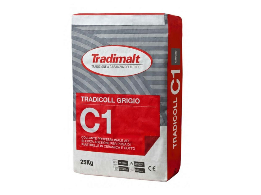 Cement-based glue C1 GRIGIO - TRADIMALT