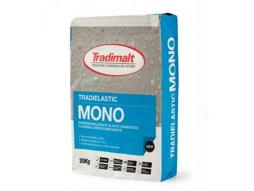 Cement-based waterproofing product TRADIELASTIC MONO - TRADIMALT