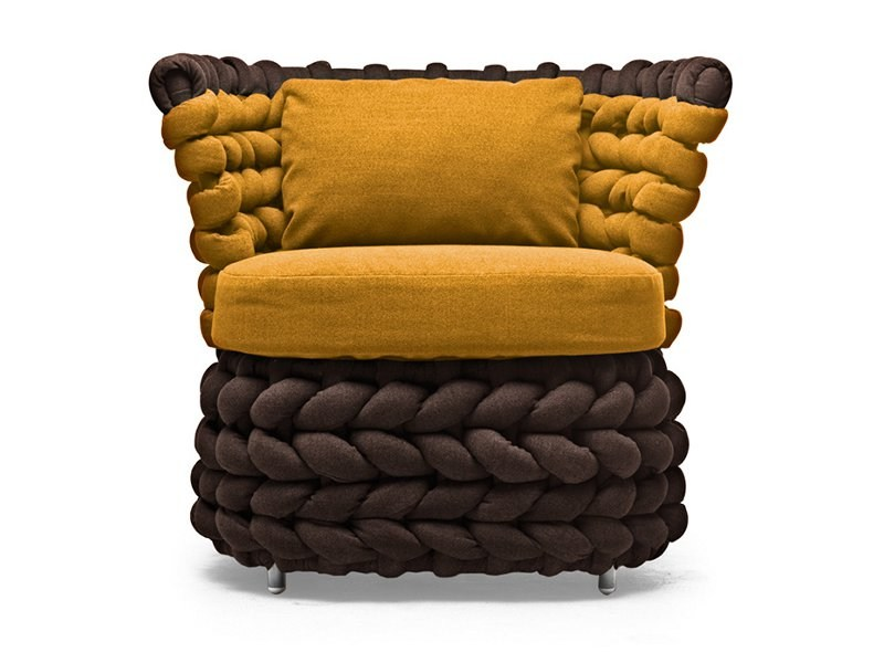 Club upholstered armchair ZIGGY | Armchair by KENNETH COBONPUE