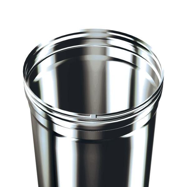 Stainless steel flue GASFIX - Monoparete sp. 0.4 mm - Schiedel
