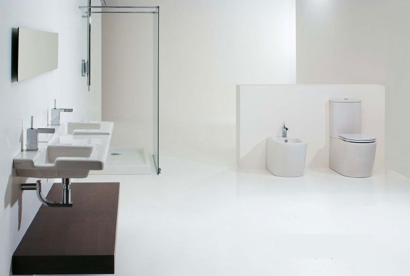 Ceramic bathroom furniture set RACE - GSG Ceramic Design