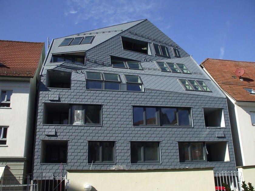 Edificio in Germania ristrutturato con rivestimento in facciata con Scandole PREFA