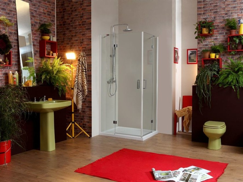Corner rectangular shower cabin STILE LIBERO A - MEGIUS