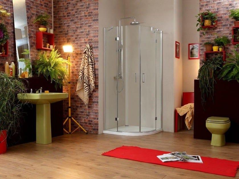 Corner rectangular shower cabin STILE LIBERO R2B by MEGIUS