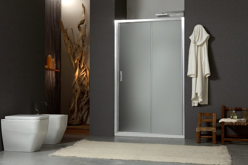 Niche shower cabin with sliding door MORE LIVE P1S - MEGIUS
