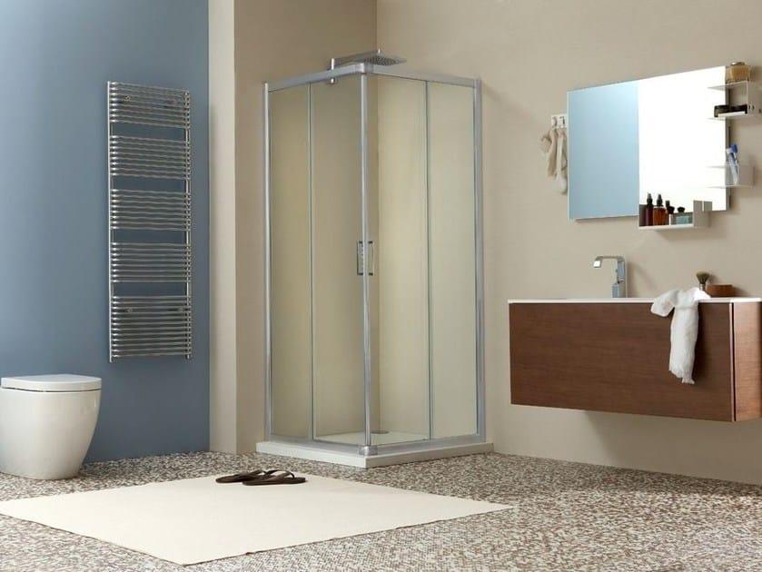 Corner shower cabin with sliding door LIVE A - MEGIUS