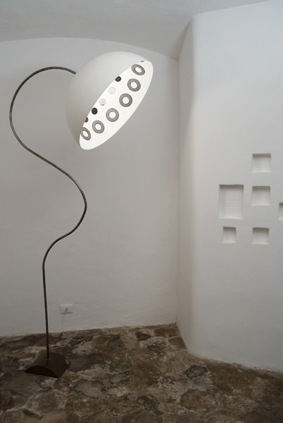 Nebulite® floor lamp MEZZA LUNA UNICO - In-es.artdesign