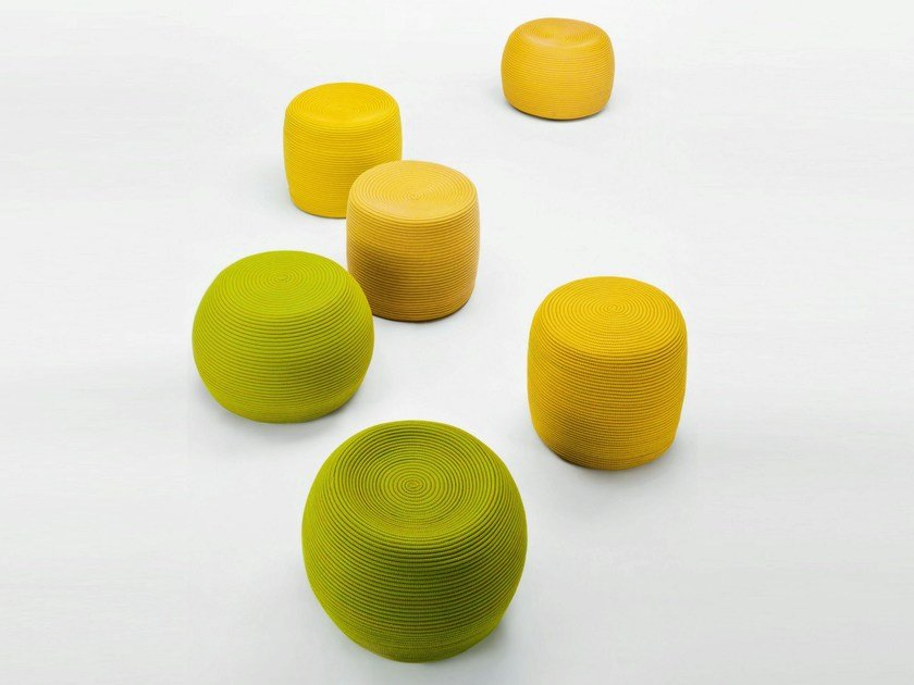 Pouf with removable lining OTTO | Pouf - Paola Lenti