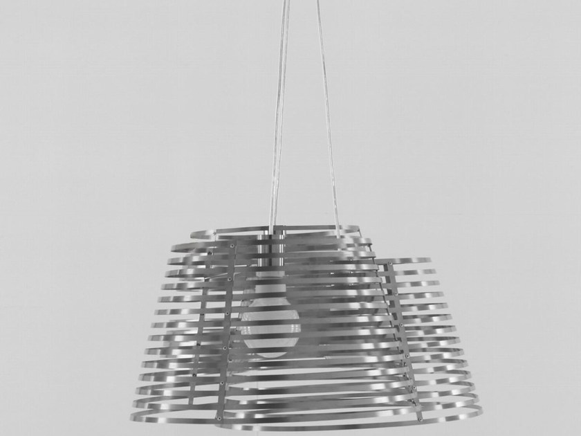 Steel pendant lamp STRIPES - ROSET ITALIA