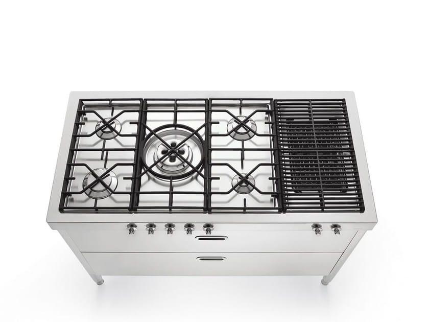 Modulo cucina con piano cottura collezione liberi in cucina by alpes inox design nico moretto - Cucine alpes inox prezzi ...