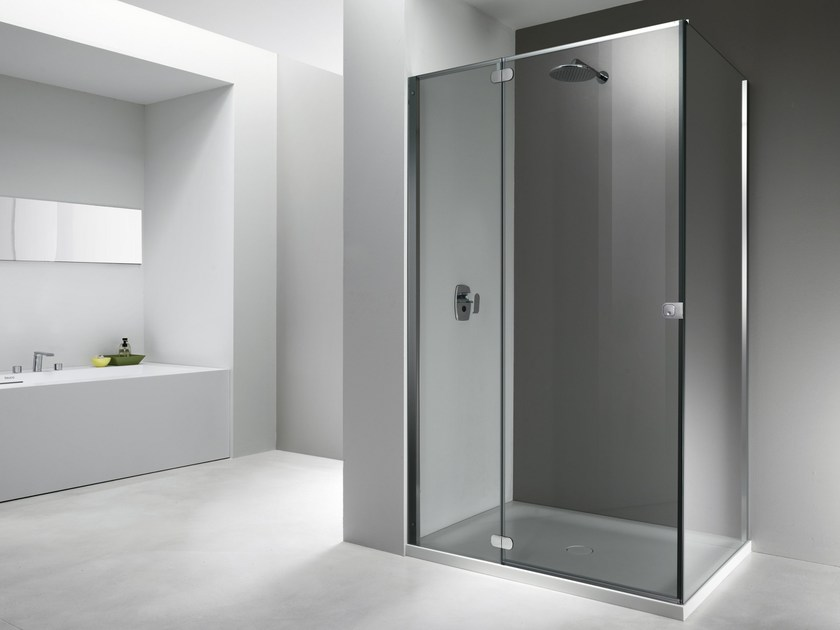 Glass shower cabin FLAT FT + FW - Provex Industrie