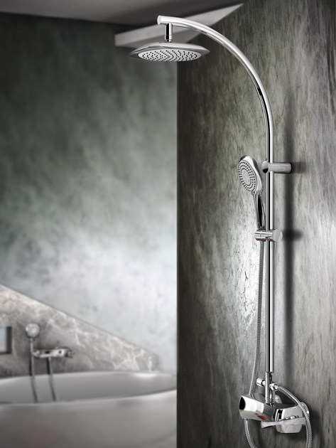 Shower panel with hand shower ICARUS | Shower panel - Gattoni Rubinetteria