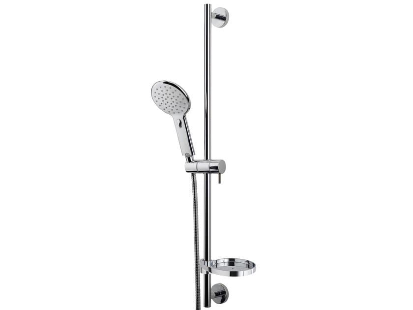 Chrome-plated shower wallbar with hand shower AGUA | Shower wallbar - Bossini