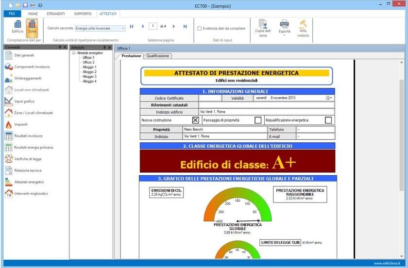 Energy certification EC784 Provincia di Trento - EDILCLIMA