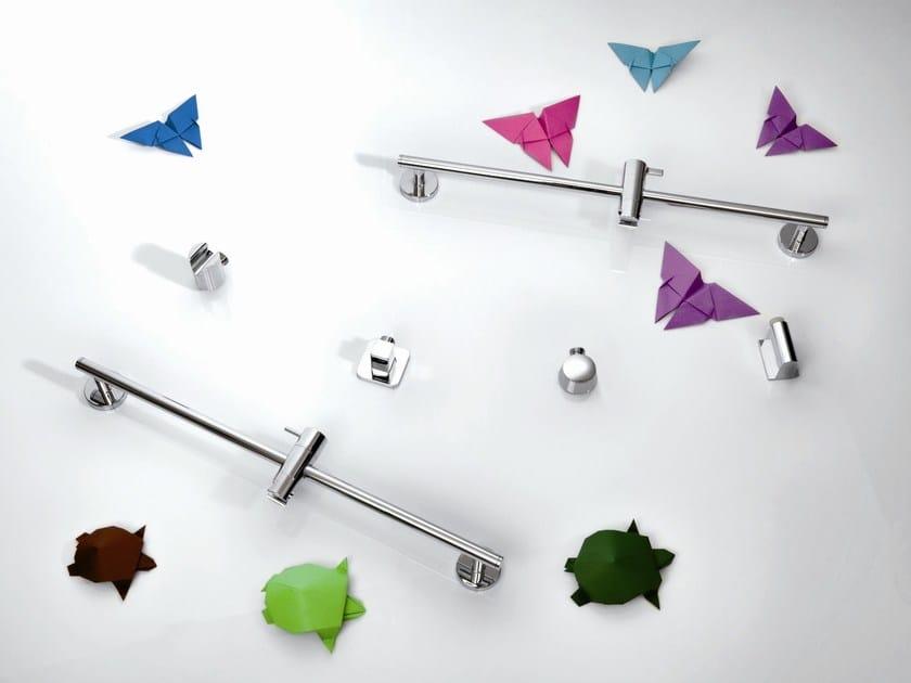 Chrome-plated shower wallbar SHOWER SYSTEM | Shower wallbar - RUBINETTERIE RITMONIO