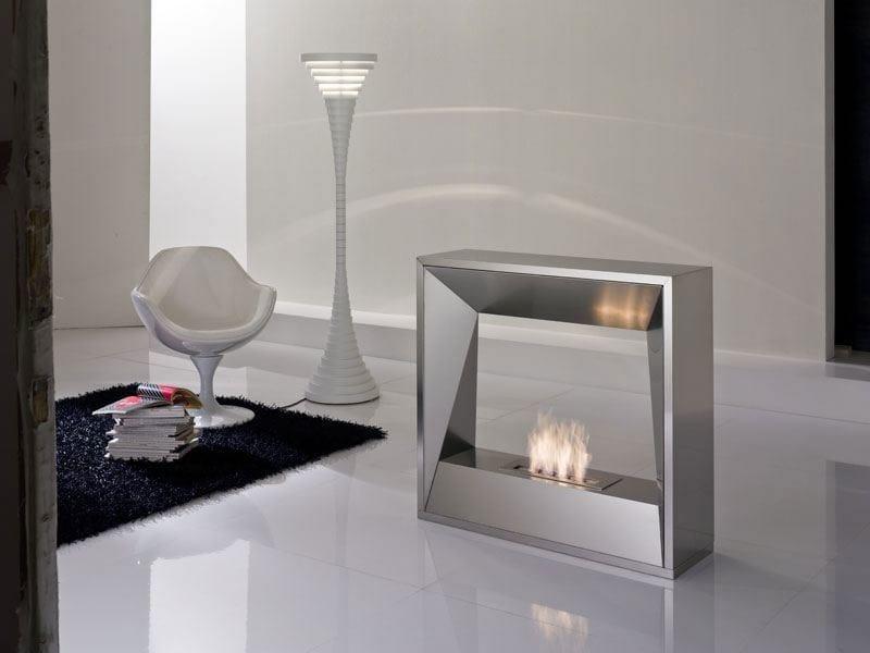 Bioethanol double-sided open steel fireplace SIPARIO | Double-sided fireplace - ITALY DREAM DESIGN - Kallisté