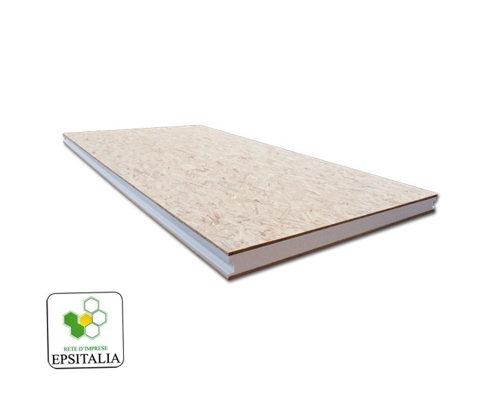 Thermal insulation panel ISOWOOD SANDWICH - S.T.S. POLISTIROLI