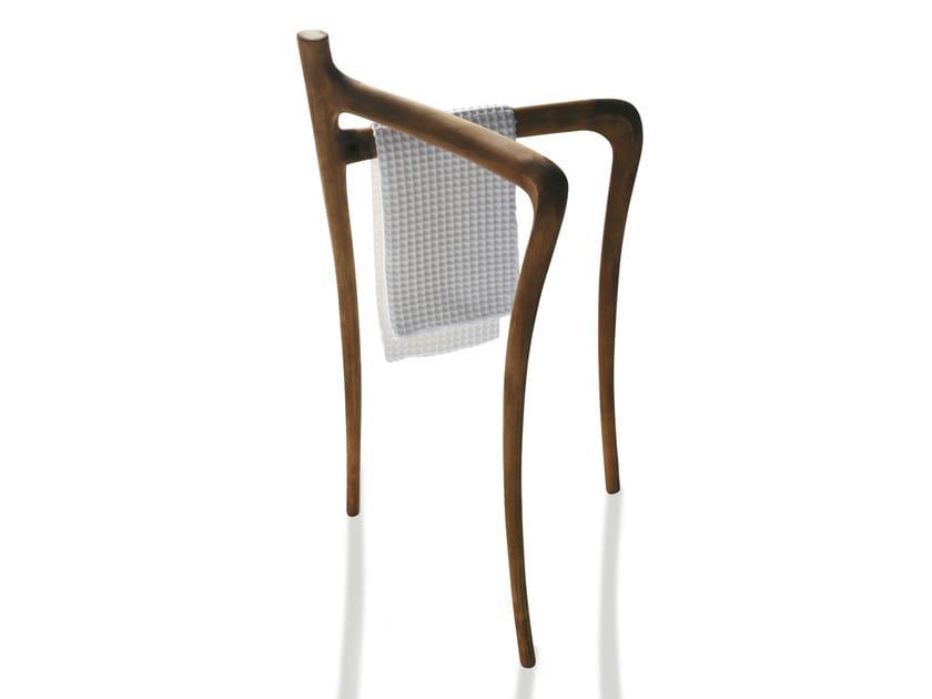 Standing solid wood towel rack ERGO | Towel rack - GALASSIA