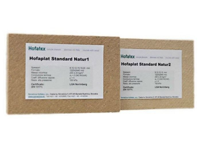 Wood fibre thermal insulation panel NORDTEX NATUR - NORDTEX