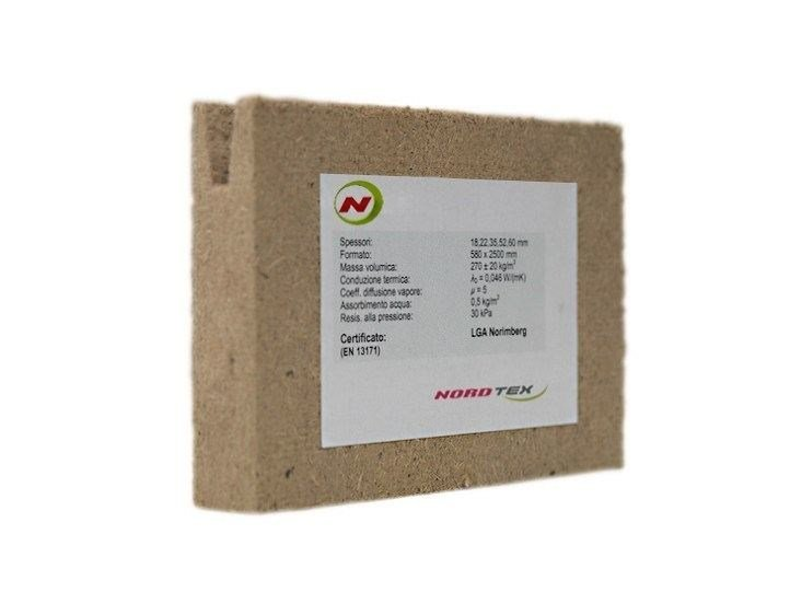 Wood fibre thermal insulation panel NORDTEX SPECIAL - NORDTEX