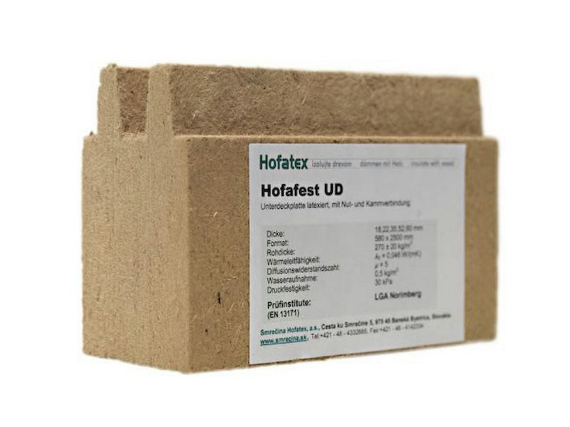 Wood fibre thermal insulation panel NORDTEX UD - NORDTEX