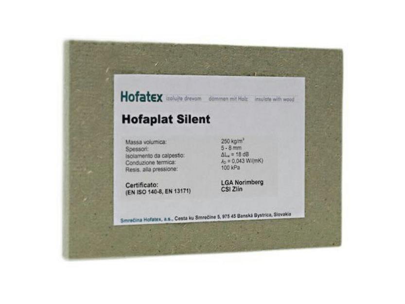 Wood fibre thermal insulation panel HOFATEX® SILENT - NORDTEX