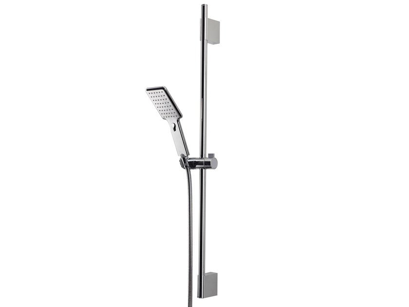 Chrome-plated brass shower wallbar with hand shower AGUA LIFE - Bossini