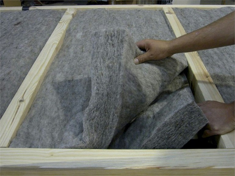 Natural insulating felt and panel for sustainable building KLIMALAN PRO by NORDTEX