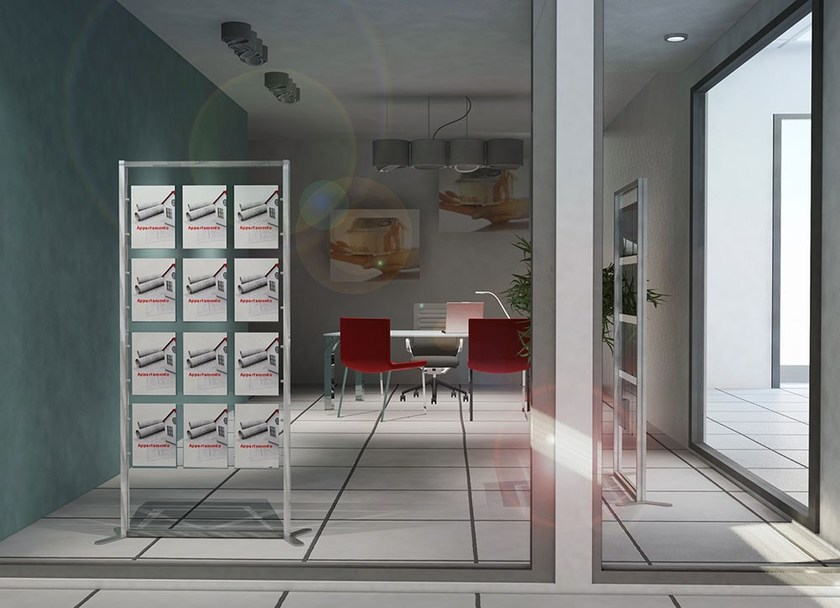 Modular floor-standing display unit INUNO | Display unit - STUDIO T