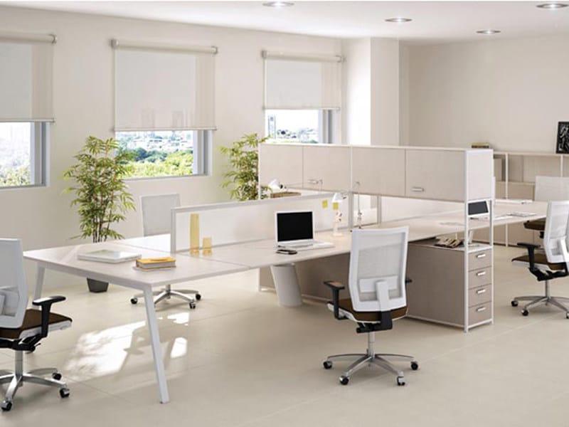 Office desk with shelves ASSIST | Office desk - ESTEL GROUP