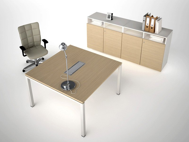 Melamine meeting table ASTERISCO IN | Square meeting table by ESTEL GROUP