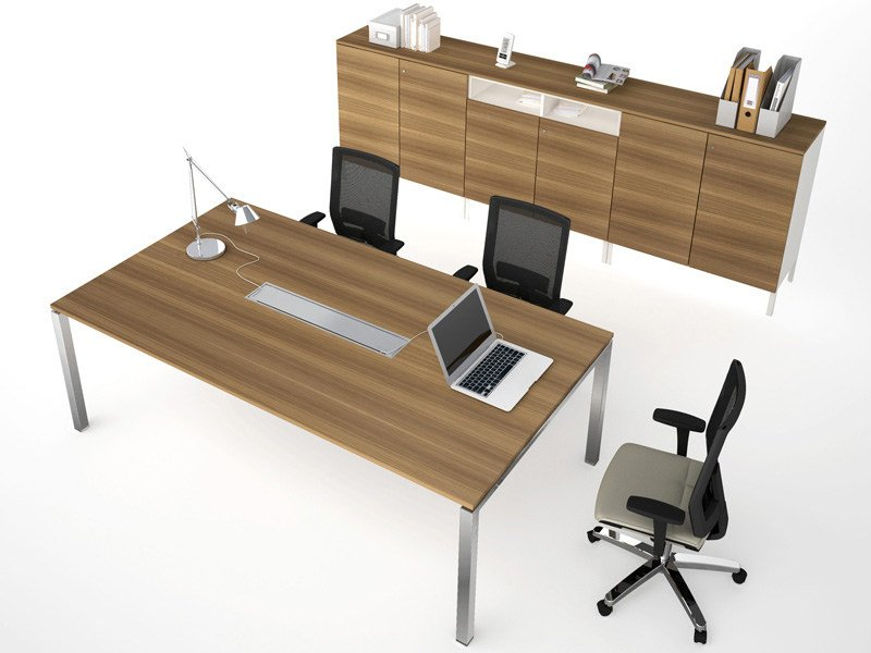 Melamine meeting table ASTERISCO IN | Rectangular meeting table - ESTEL GROUP