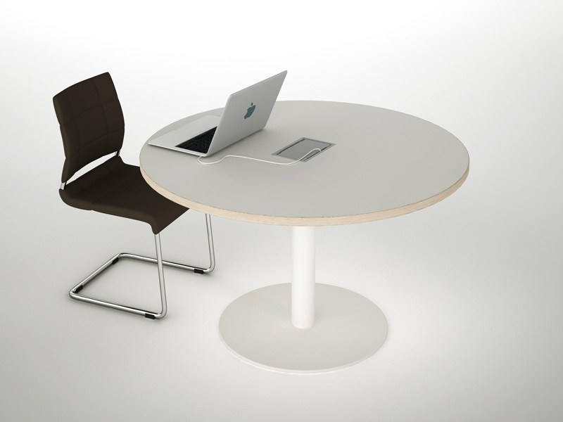 Melamine meeting table ASTERISCO IN | Round meeting table - ESTEL GROUP