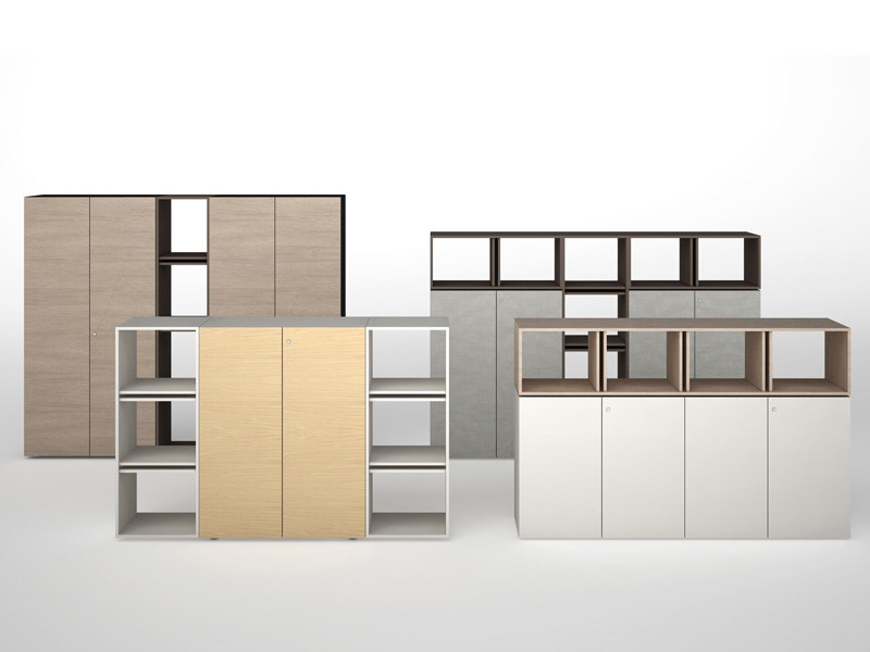 Modular wooden office storage unit CASE - ESTEL GROUP