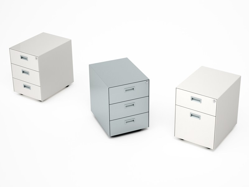 Metal office drawer unit with casters Cassettiera in metallo - ESTEL GROUP