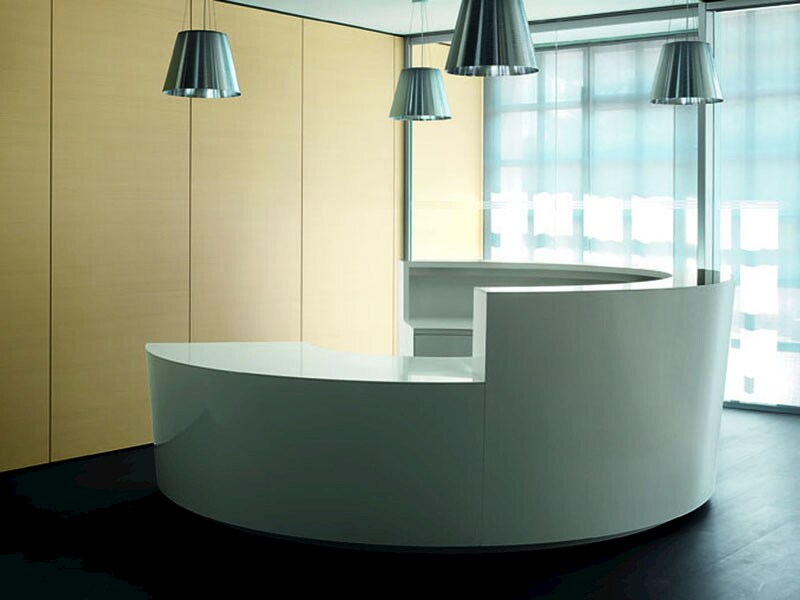 Wooden reception desk CIGNO - ESTEL GROUP