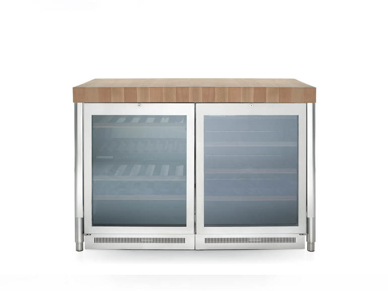 Stainless steel kitchen unit with refrigerator LIBERI IN CUCINA | Kitchen unit with refrigerator - ALPES-INOX