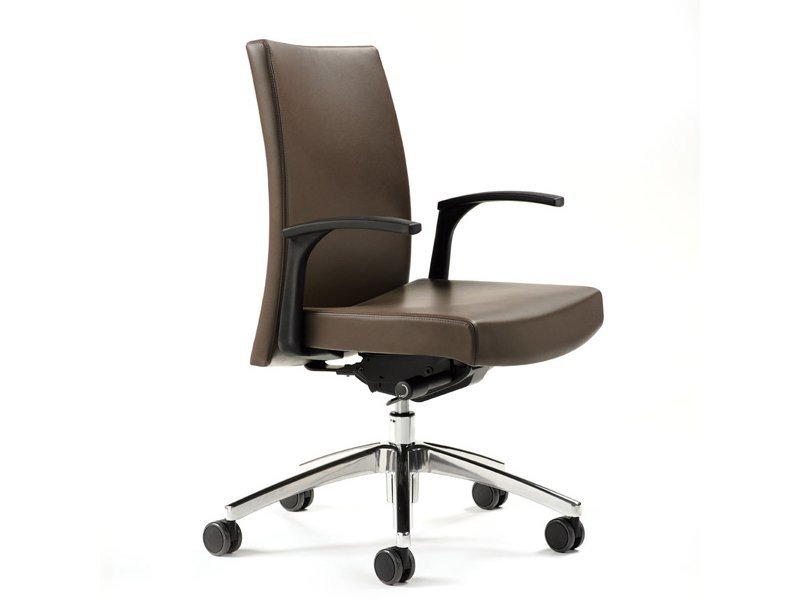 Swivel leather task chair M2 | Leather task chair - ESTEL GROUP