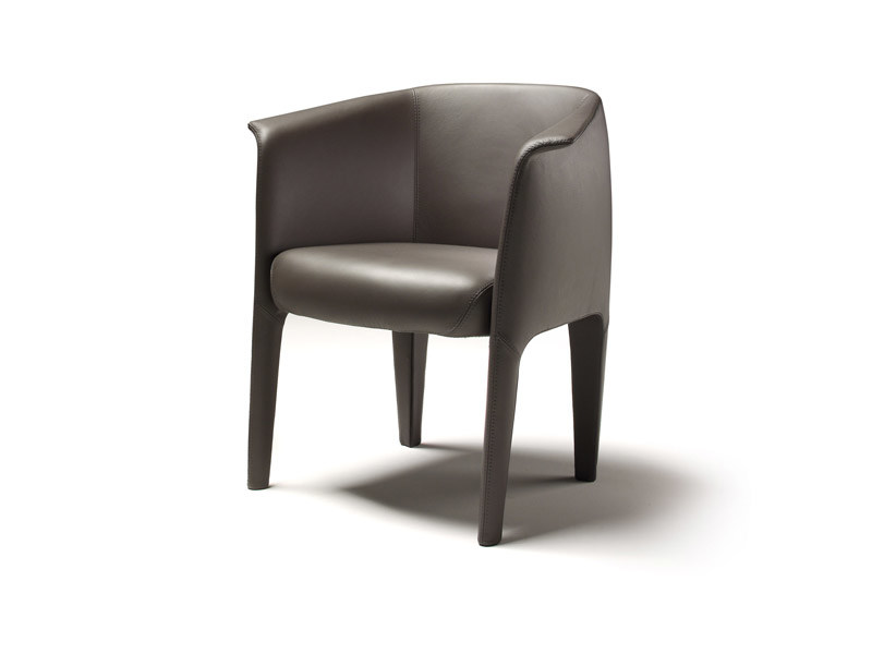 Upholstered leather easy chair MILO | Easy chair - ESTEL GROUP