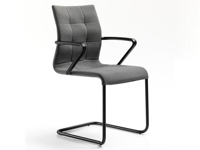 Cantilever fabric chair with armrests VERSO | Chair with armrests by ESTEL GROUP
