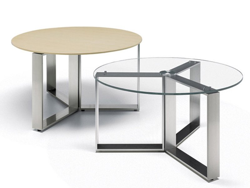 Round aluminium coffee table ALTAGAMMA | Round coffee table - ESTEL GROUP