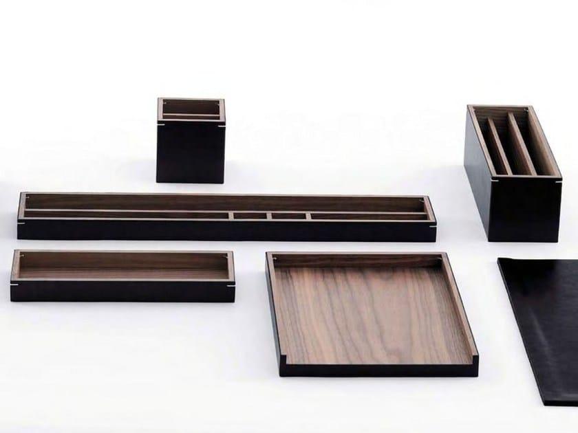 Walnut desk set NOCE   Desk set - ESTEL GROUP