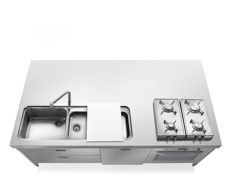 Stainless steel kitchen unit LIBERI IN CUCINA | Stainless steel kitchen - ALPES-INOX
