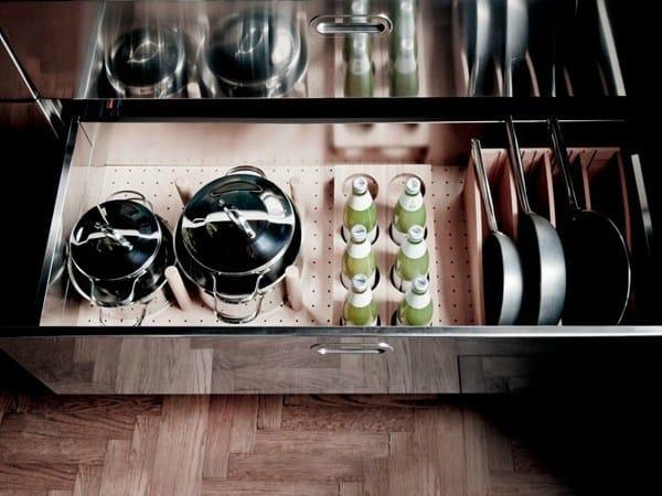 Modulo cucina in acciaio inox con piano cottura liberi in - Piano cucina acciaio inox ...