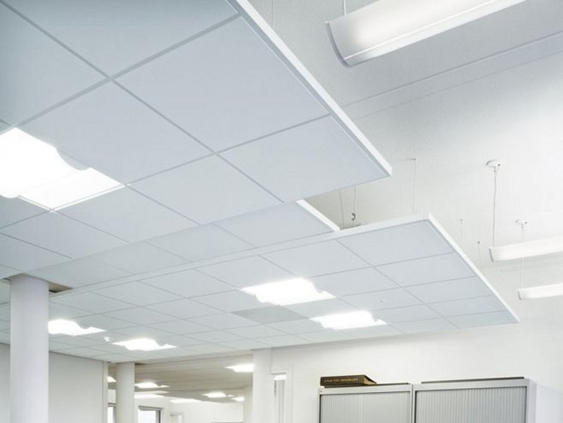 Sound absorbing ceiling tiles PERLA OP - ARMSTRONG Building Products