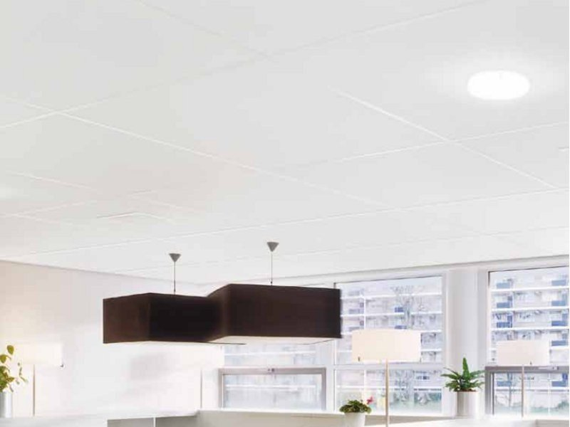 Sound absorbing ceiling tiles COLORTONE NEEVA / NEVADA by Armstrong