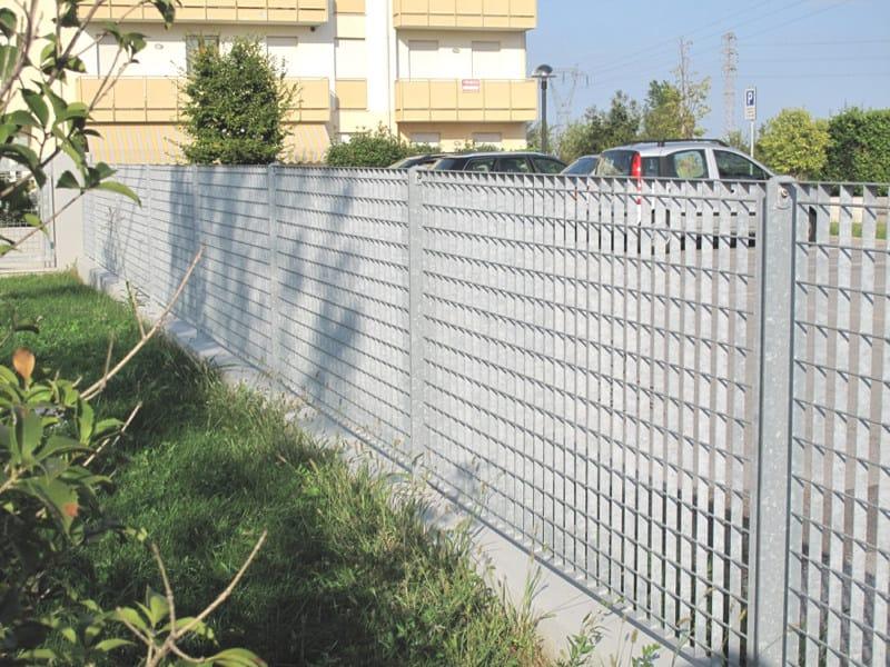 Recinzione modulare in acciaio quasar grigliati baldassar for Baldassar recinzioni